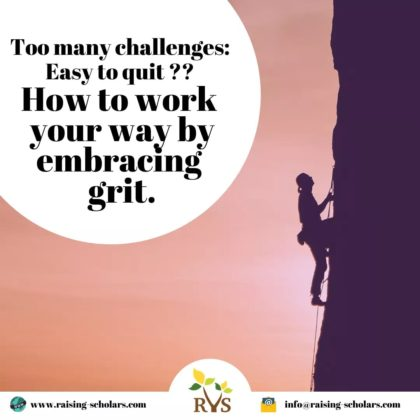 Too many challenges : Easy to quit ?? how work your way by embracing grit